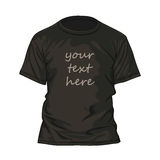 T-shirt design template Royalty Free Stock Images