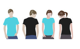 T-shirt design templates Royalty Free Stock Images