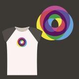 T-shirt design Stock Photography