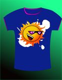 T-shirt design vector Royalty Free Stock Photography