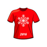 T-shirt design for winter Royalty Free Stock Image