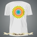 T-shirt Design With Abstract Colorful Flower Royalty Free Stock Photography
