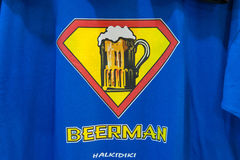 T-shirt designs with beer mugs Stock Images