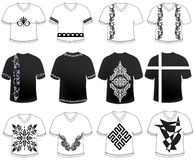 T shirt designs in black and white new and attractive Royalty Free Stock Photos