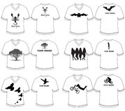 T shirt designs black and white  Royalty Free Stock Image