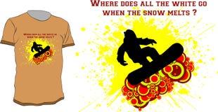 T-shirt do Snowboarder Foto de Stock Royalty Free