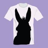 T-shirt with donkey on it  illustration Stock Images