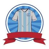 T-shirt du football de T-shirt du football de l'Argentine illustration libre de droits