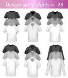 T-shirt e molde do projeto do polo Imagens de Stock Royalty Free