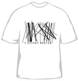 T-shirt elegante com código de barras Imagens de Stock