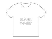 T-shirt em branco Fotografia de Stock Royalty Free