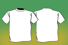 T-shirt em branco Foto de Stock Royalty Free