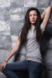 T-shirt en jeans. royalty-vrije stock fotografie