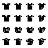 T-shirt et longue ic?ne de pli de douille r?gl?s pour le cabinet illustration de vecteur