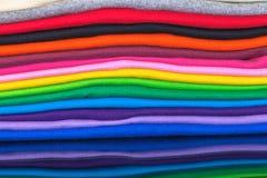 t-shirt feitos do algodão e da fibra Fotos de Stock