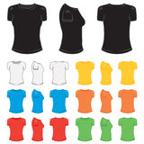 T-shirt female. Graphic female t-shirt in a variety of basic colors Stock Photo