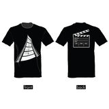 T-shirt with film tape  illustration. T-shirt with film tape  art illustration Royalty Free Stock Image