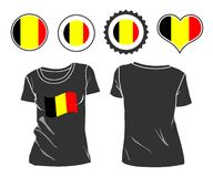 T-shirt with the flag of Belgium Royalty Free Stock Photos