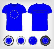 T-shirt with the flag of European Union Stock Photos