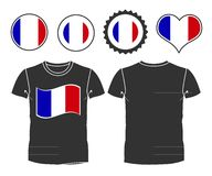 T-shirt with the flag of France Royalty Free Stock Photos
