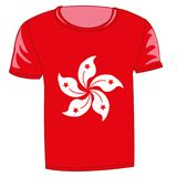 T-shirt flag Hong kong. On white background insulated Stock Photography