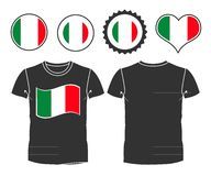 T-shirt with the flag of Italy Stock Photo