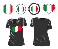 T-shirt with the flag of Italy Stock Photography