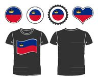 T-shirt with the flag of Liechtenstein Royalty Free Stock Photography