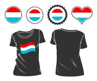 T-shirt with the flag of Luxembourg Royalty Free Stock Photography