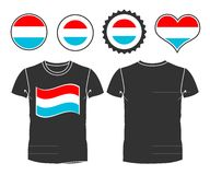 T-shirt with the flag of Luxembourg Royalty Free Stock Image