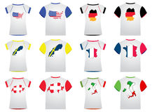 T-shirt with flags Stock Image