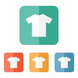 T-shirt flat blank icon symbol Royalty Free Stock Photo