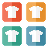 T-shirt flat blank icon symbol Stock Photos