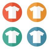T-shirt flat blank icon symbol Stock Photo