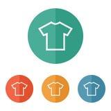 T-shirt flat blank icon symbol Stock Image