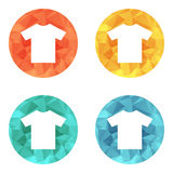 T-shirt flat blank icon symbol Stock Photography