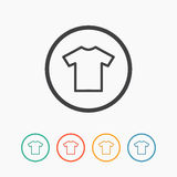 T-shirt flat blank icon symbol Royalty Free Stock Photography
