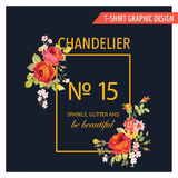 T-shirt Floral Graphic Design Royalty Free Stock Photography