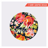 T-shirt Floral Graphic Design Royalty Free Stock Photo