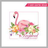 T-shirt Floral Shabby Chic Graphic Design Stock Photography