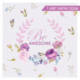T-shirt Floral Shabby Chic Graphic Design stock illustration
