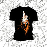 T-shirt with flower print Royalty Free Stock Images