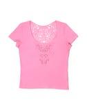 T-shirt fêmea cor-de-rosa Foto de Stock