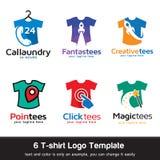 T-shirt - forma Logo Template Design Vetora fotografia de stock