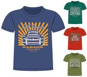 T-Shirt Garage Design. The t-Shirt Garage Design Royalty Free Stock Photo