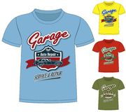 T-Shirt Garage Design. The t-Shirt Garage Design Royalty Free Stock Images
