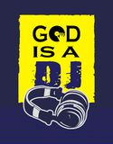 T shirt god is a DJ Royalty Free Stock Photography