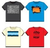 T-shirt gráficos Fotos de Stock