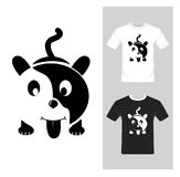 T-shirt graphic design. Cute puppy - vector