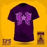 T-shirt graphique de conception d'abrégé sur Rockstar de conception de T-shirt illustration stock